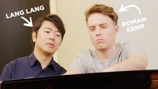 Roman Kemp and Lang Lang play piano