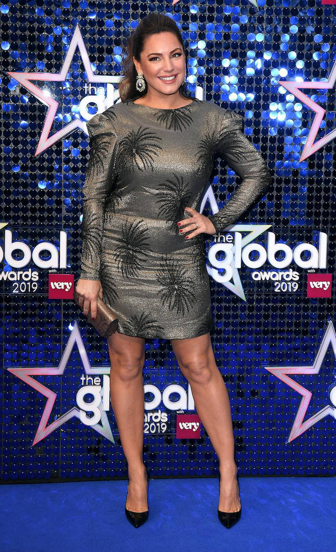 Kelly Brook arrives at The Global Awards 2019 with Very.co.uk