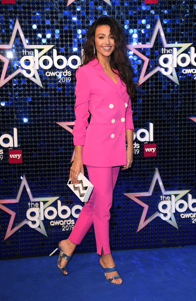 Michelle Keegan is at the 2019 Global Awards