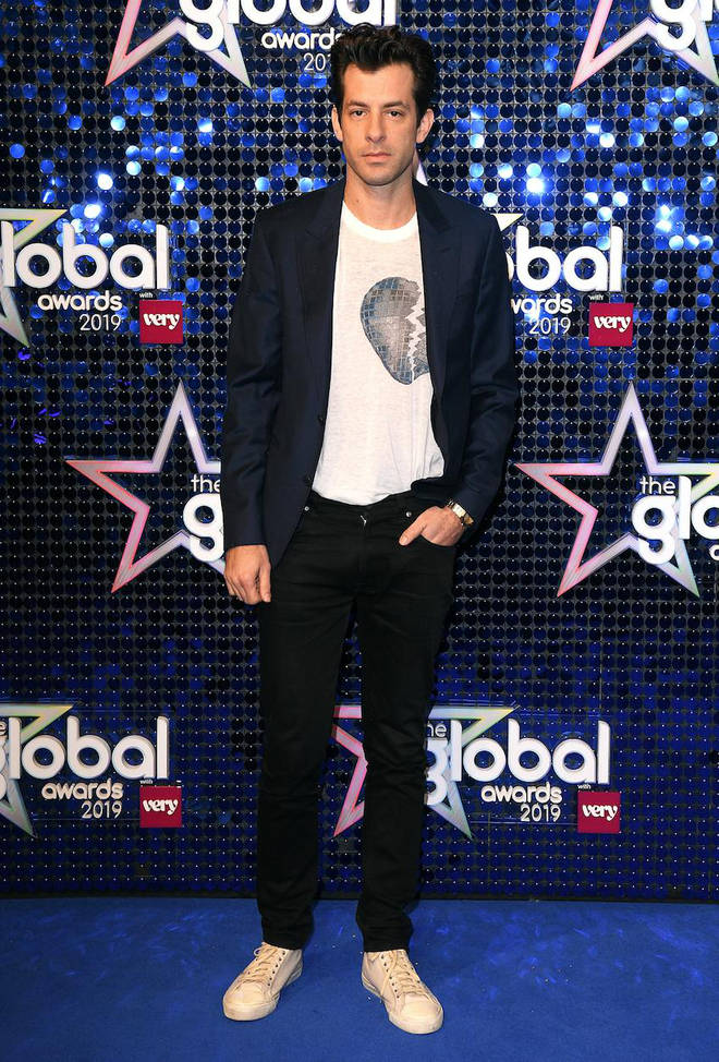 Mark Ronson arrives at The Global Awards 2019 with Very.co.uk