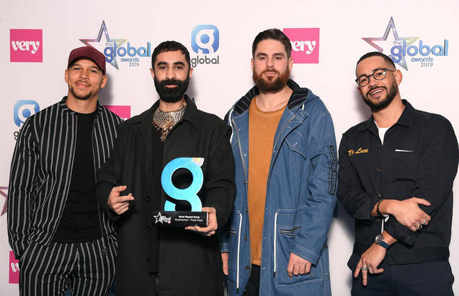 Rudimental win the Most Played Song at The Global Awards 2019 with Very.co.uk