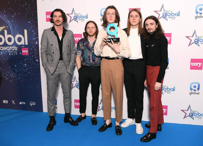 Blossoms in the press room at The Global Awards 2019 with Very.co.uk