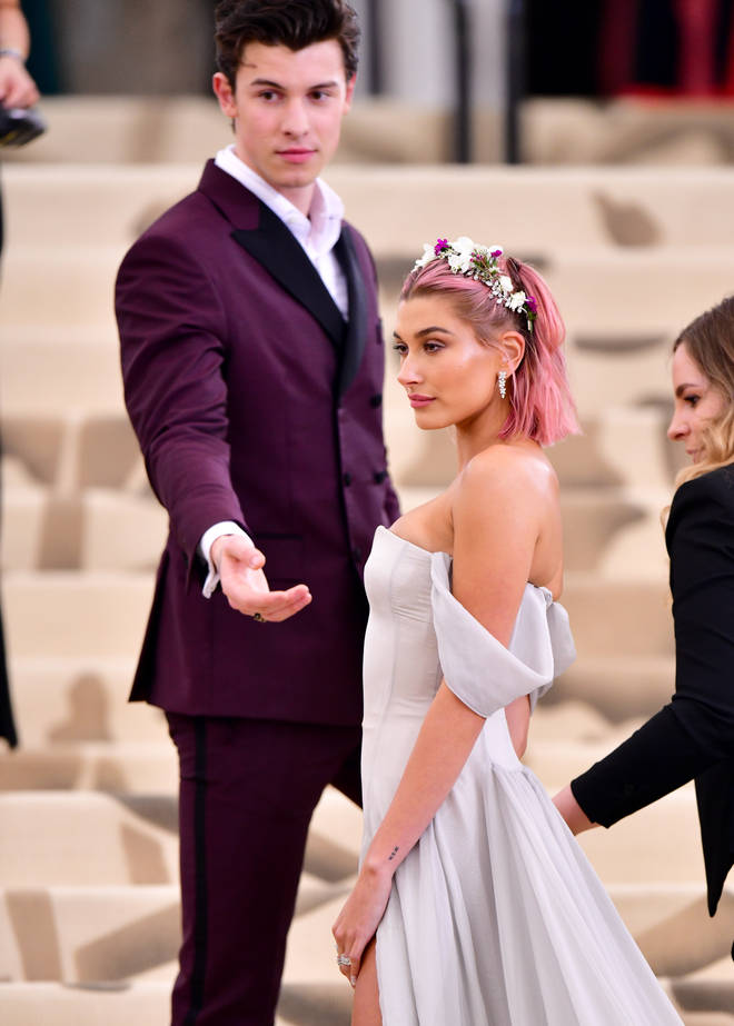 Shawn Mendes and Hailey Baldwin attend the 2018 Met Gala together