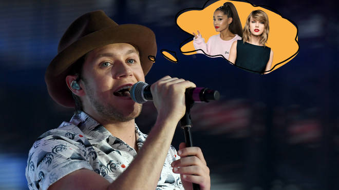 Niall admitted he'd love to collaborate with Ariana Grande and Taylor Swift