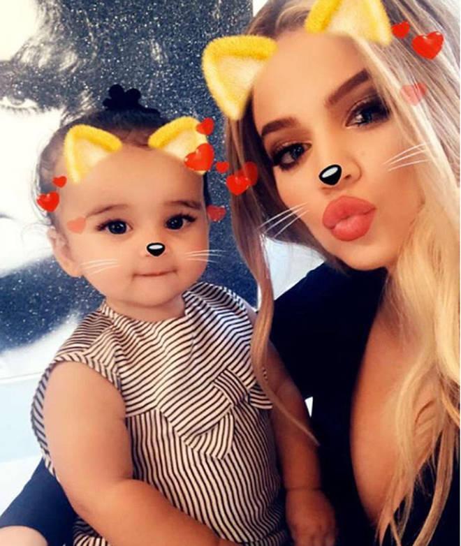 Dream Kardashian with her aunty, Khloe Kardashian.