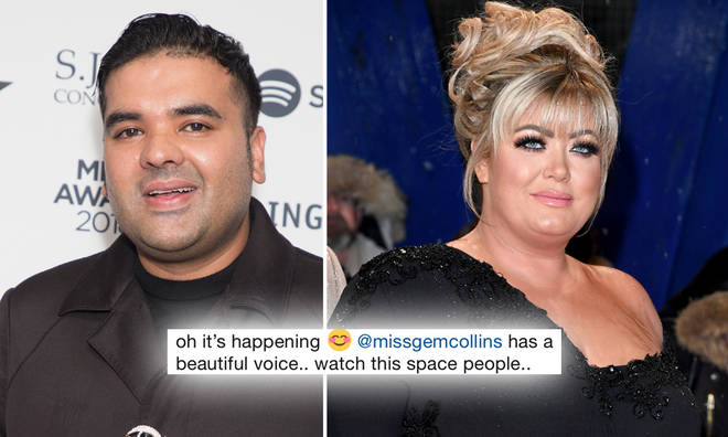 Gemma Collins and Naughty Boy are working on a ballad