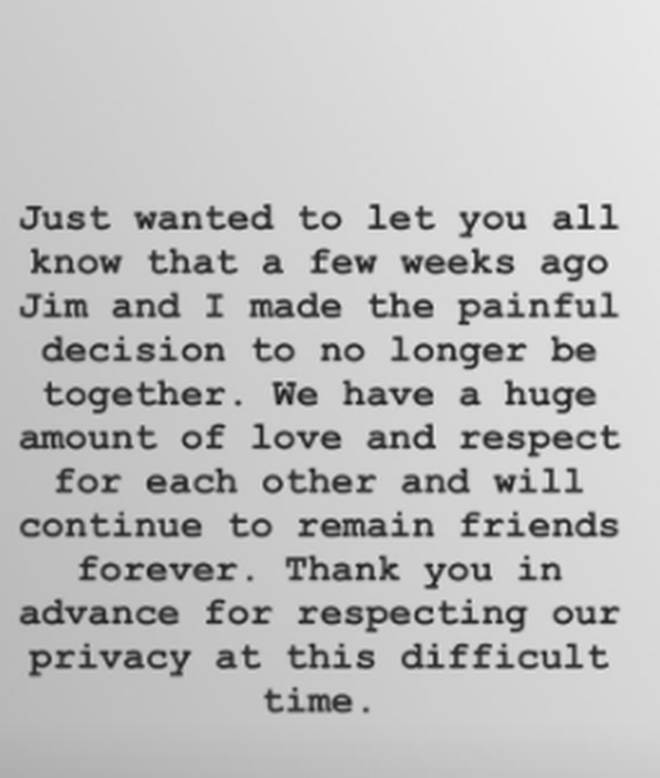 Tanya Burr posted this statement to her fans.