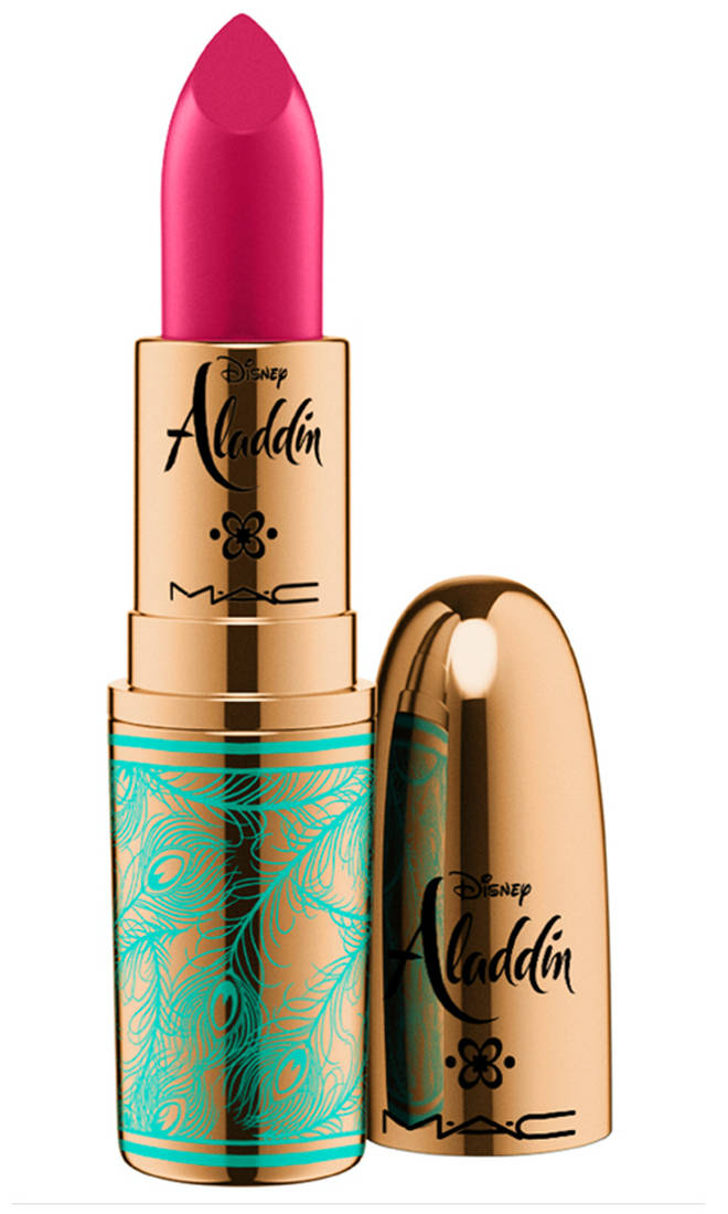 MAC's Princess Jasmine-inspired lipstick is a hot pink shade