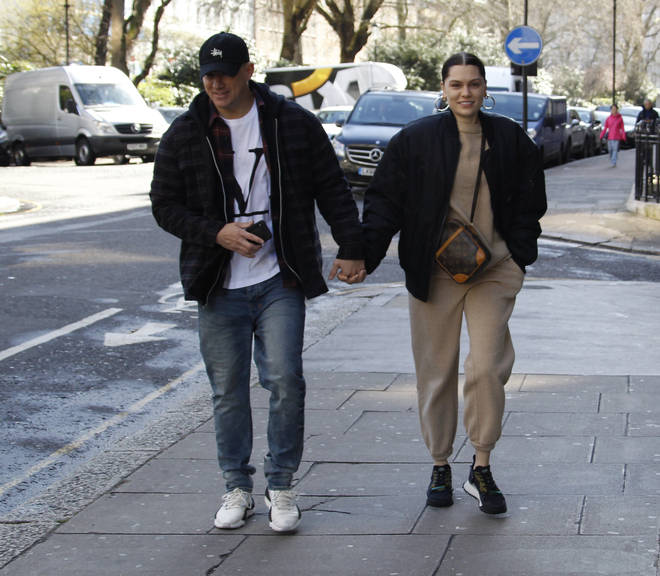 Jessie J and Channing Tatum were pictured in London walking hand-in-hand