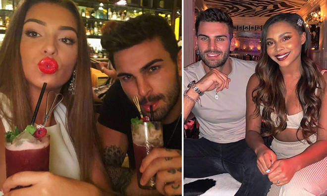 Zara McDermott and Adam Collard both partied at the same Essex bar but with separate groups of friends