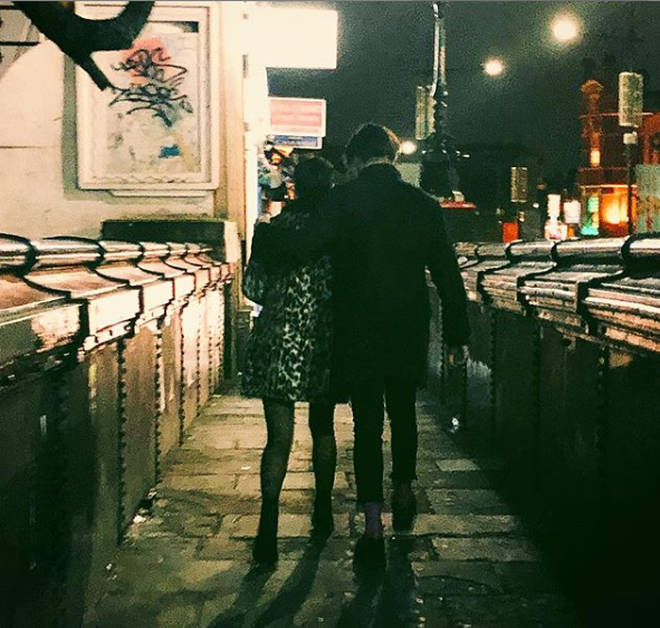 Halsey posted this photo of her and YUNGBLUD in Camden in January.