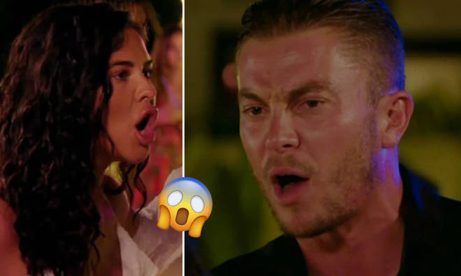 The explosive TOWIE scene aired on Sunday night.