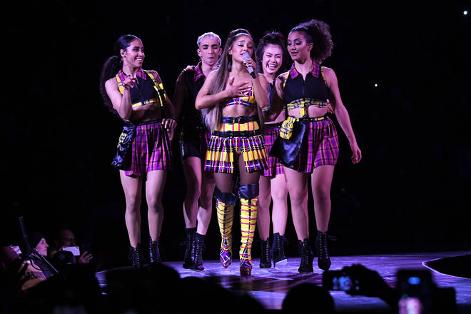 Ariana also chose a Clueless-inspired check outfit.