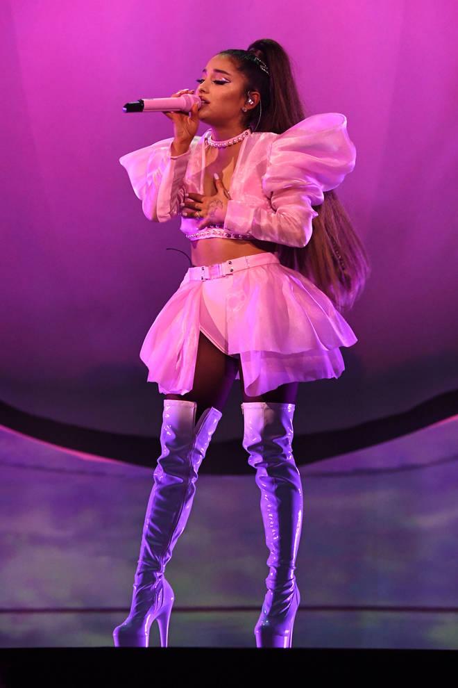 Doesn't she look like a dream! Ari rocked a puffy pale pink ensemble.