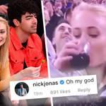 Sophie Turner chugged her drink on celeb sports cam