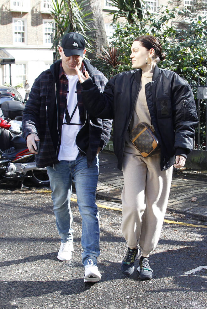 Jessie J lovingly touches Channing Tatum as they shop in London