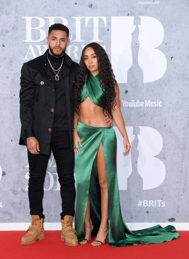 Leigh-Anne and boyfriend Andre Gray at the BRIT Awards 2019