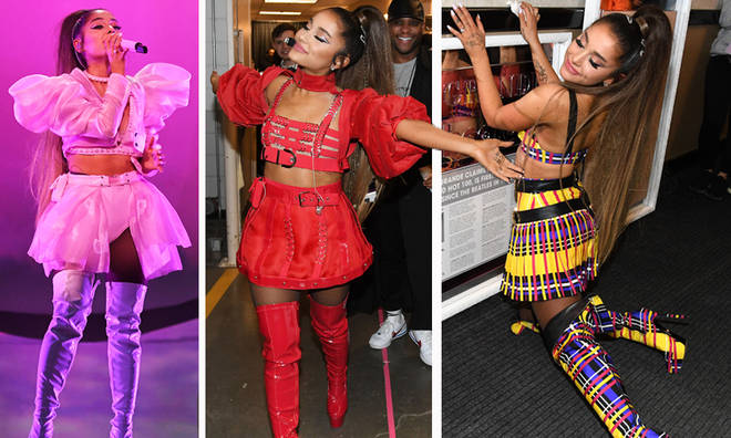 Ariana Grande thanks Versace for designing her tour outfits