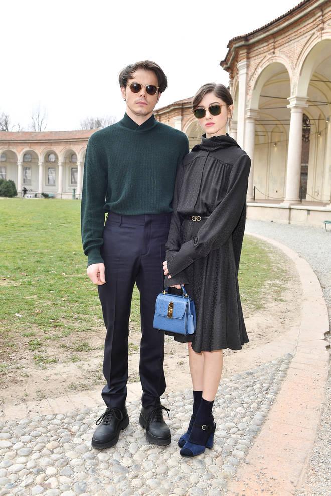 Charlie Heaton and Natalia Dyer at Milan Fashion Week 2019