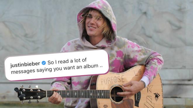 Justin Bieber is taking a break from releasing music