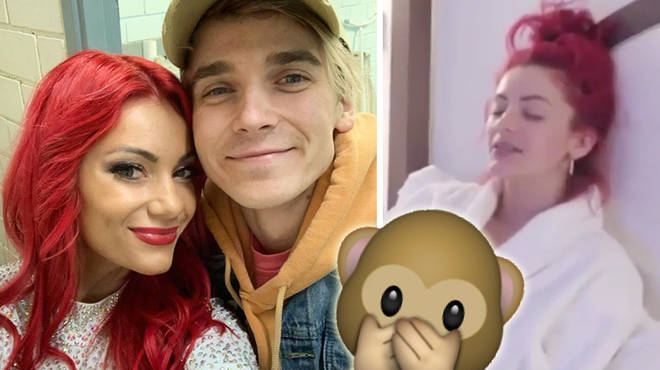 Joe Sugg and Dianne Buswell shared an x-rated joke.