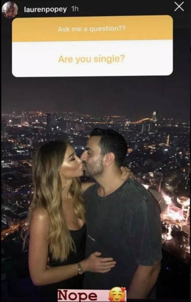 Lauren Pope reveals she's in a relationship on Instagram