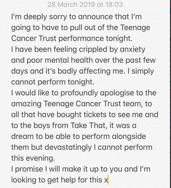 James Arthur pulls out of performance due to crippling anxiety