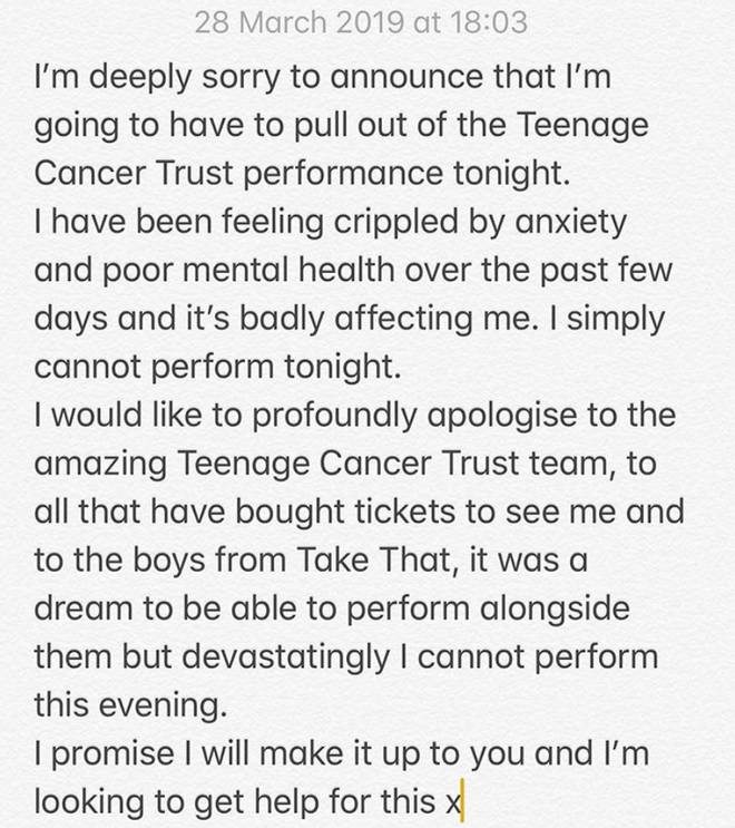 James Arthur pulled out of a Teenage Cancer Trust gig
