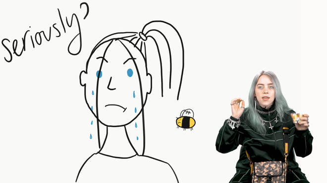 Billie Eilish tells us a childhood story about a swarm of bees