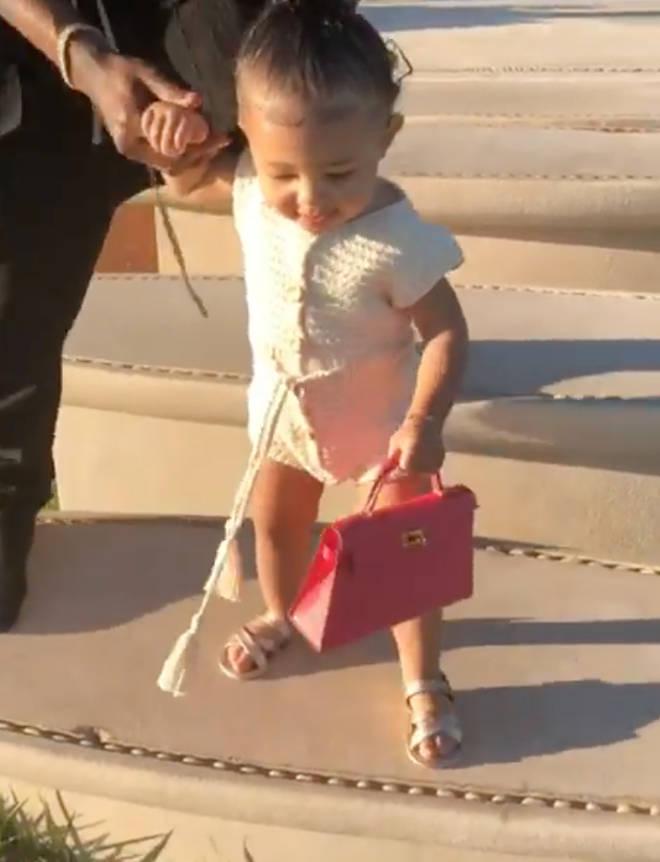 Jordyn Woods liked Kylie's Instagram post of Stormi walking