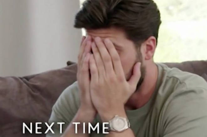 Dan Edgar looks tense after his conversation with Chloe Sims on TOWIE teaser