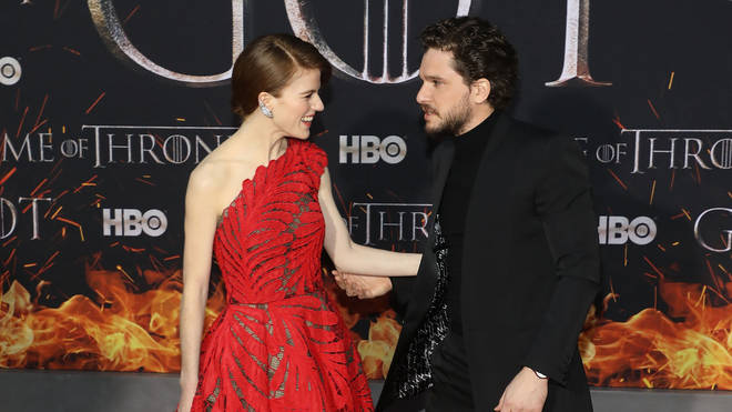 Kit Harington and Rose Leslie met while filming Game of Thrones