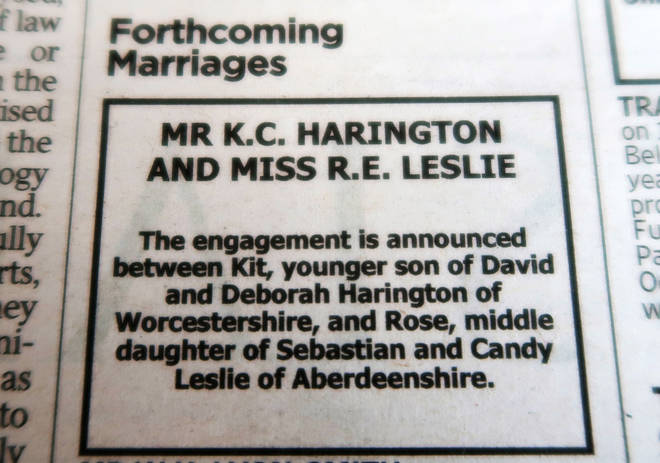 Kit Harington And Rose Leslie announced their engagement in The Times