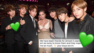Halsey and BTS have been friends for a long time