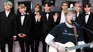 Ed Sheeran worked with BTS on a song for their new album