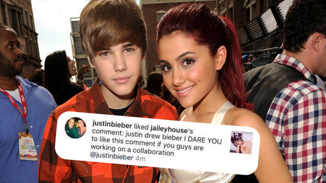 Justin Bieber liked a comment on Instagram, hinting at an Ariana Grande collab