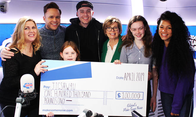 Capital Breakfast has handed over a cheque for £100,000 to Jigsaw4u