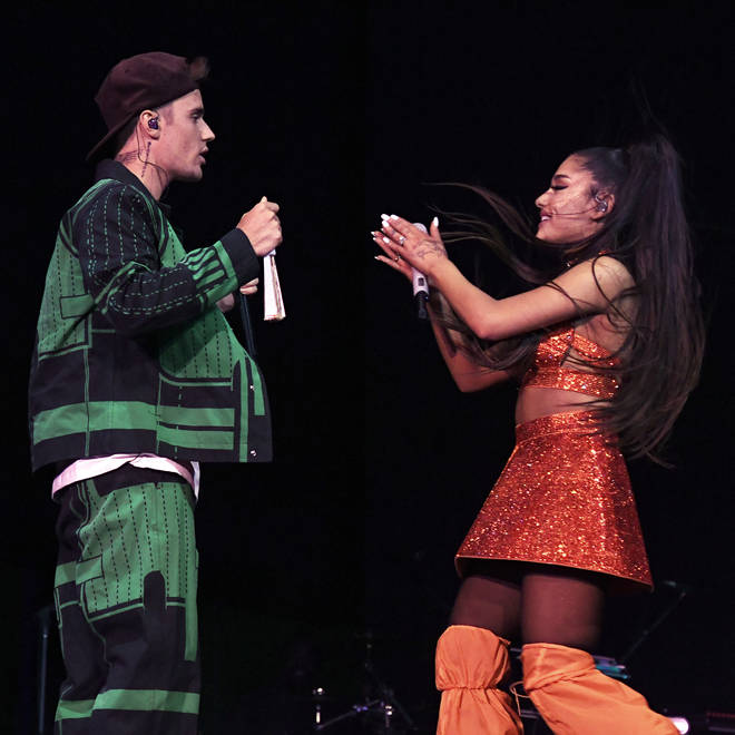 Ariana Grande brought Justin Bieber on stage with her at Coachella