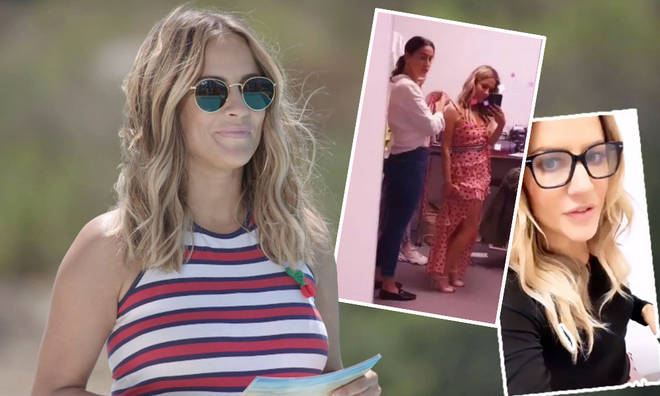 Caroline Flack shared a behind the scenes look at the Love Island 2019 advert