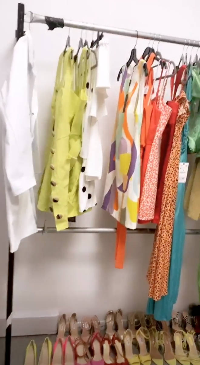 Caroline Flack gave a clue as to what she'll be wearing throughout the next series