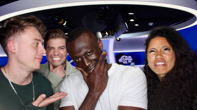 Stormzy joined Capital Breakfast with Roman Kemp