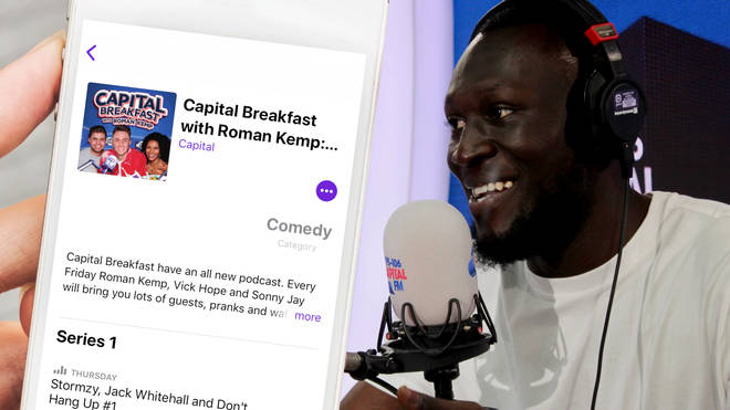 Stormzy appeared on the first episode of Capital Breakfast with Roman Kemp: The Podcast