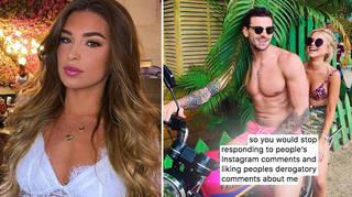 Zara McDermott requested Adam Collard 'stop liking derogatory comments'