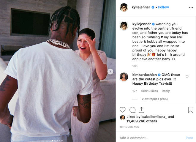 Kylie Jenner says 'let's make another baby' to Travis Scott