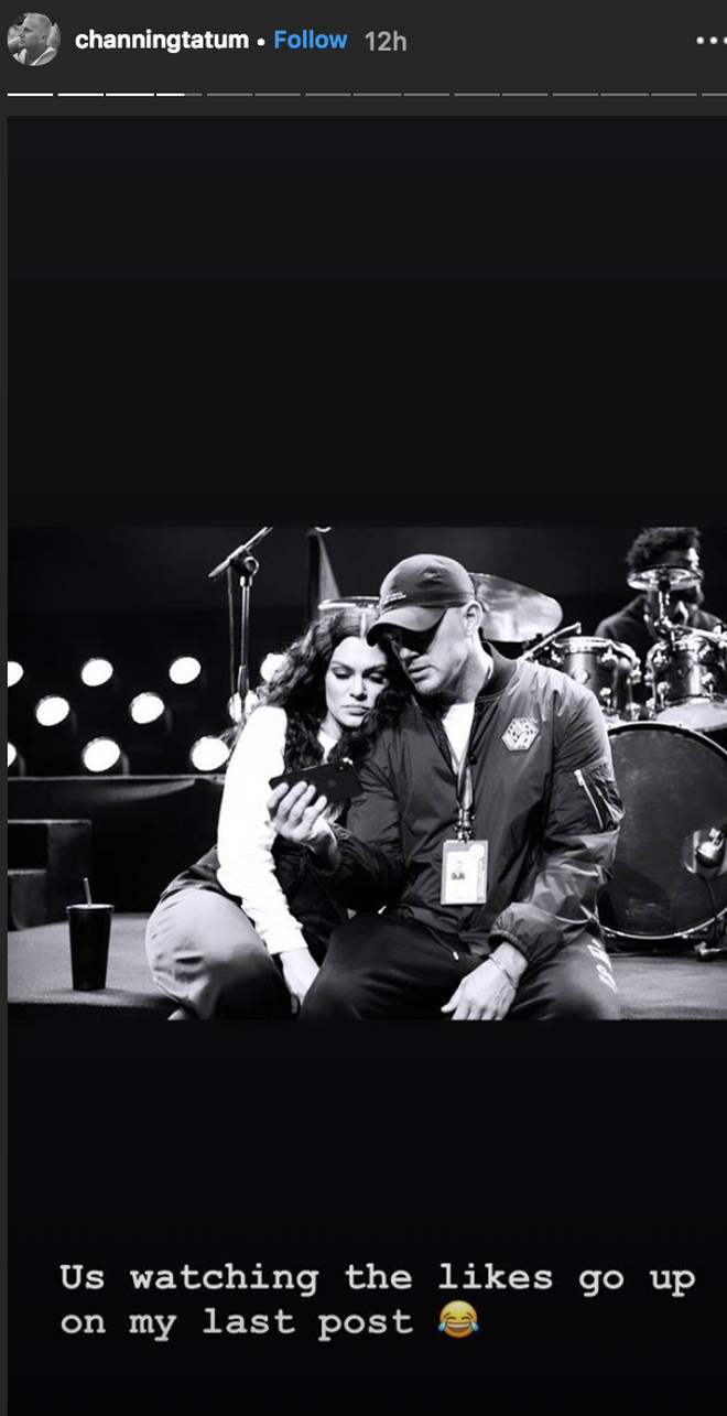 Channing Tatum posts a loved up snap with Jessie J