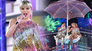 Taylor Swift put on a colourful performance at the BBMAs