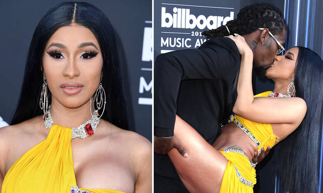 Cardi B and Offset's racy pose on the red carpet went viral after it was doctored