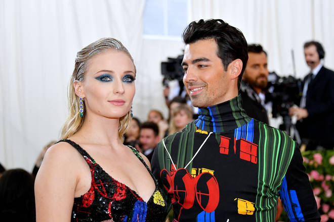 Newlyweds Sophie Turner and Joe Jonas matched on the 2019 Met Gala red carpet