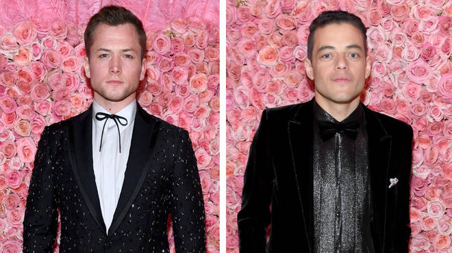 Taron Egerton and Rami Malek at the Met Gala 2019