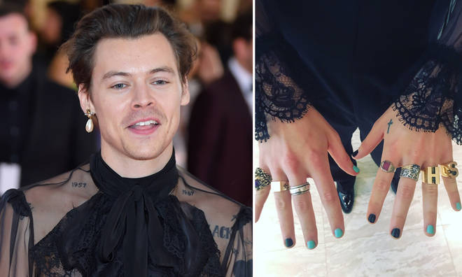Harry Styles arrived at the Met Gala with a manicure